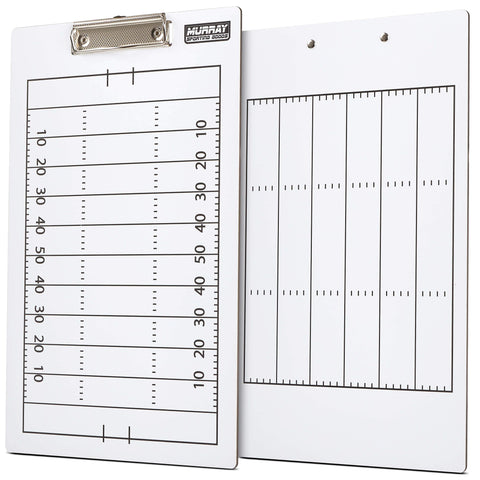Murray Sporting Goods Dry Erase Football Coaches Clipboard - Double-Sided