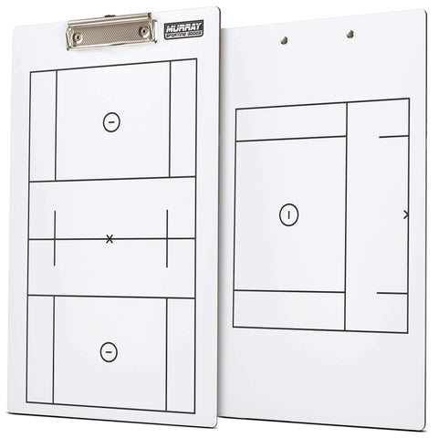 Murray Sporting Goods Dry Erase Lacrosse Coaches Clipboard - Double-Sided