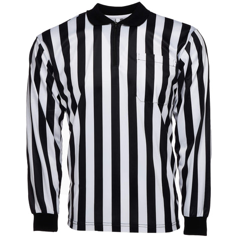 Murray Sporting Goods Men's Football Long Sleeve Collared Referee Shirt - Front