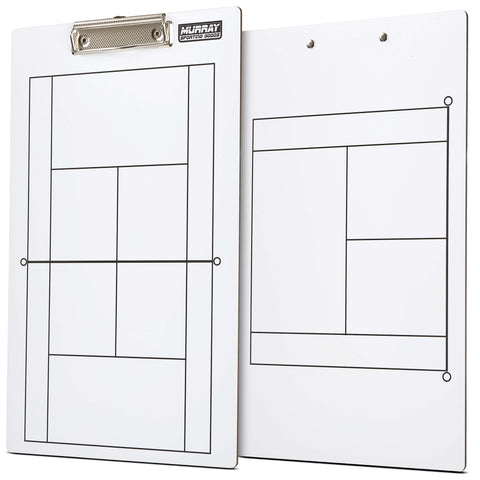 Murray Sporting Goods Dry Erase Tennis Coaches Clipboard - Double-Sided