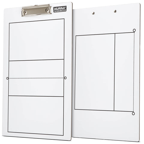 Murray Sporting Goods Dry Erase Volleyball Coaches Clipboard - Double-Sided