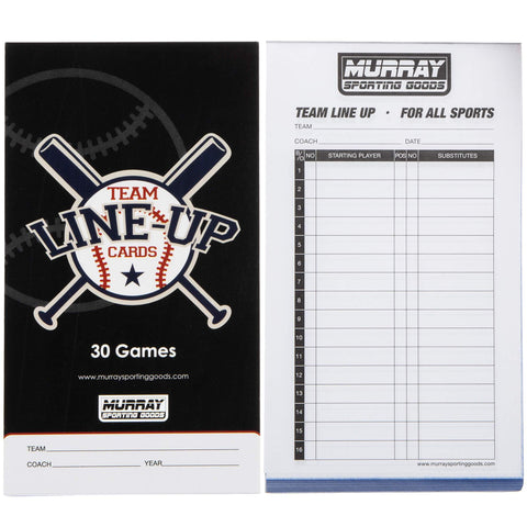 Murray Sporting Goods Baseball Team Lineup Cards - Side by Side