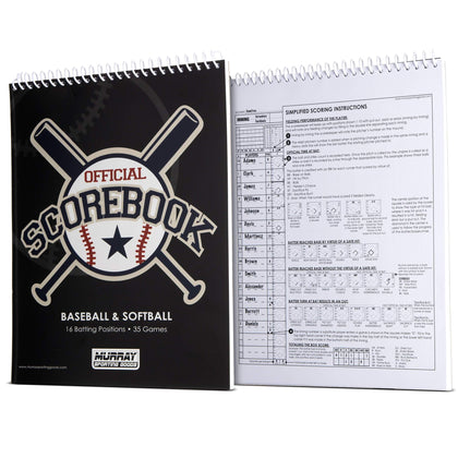 Murray Sporting Goods Baseball Scorebook - Side by Side
