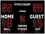 Baseball/Softball LED Scoreboard with Pitch Count - Model 3312PC - Black | Murray Sporting Goods
