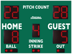 Baseball/Softball LED Scoreboard with Pitch Count - Model 3312PC - Green | Murray Sporting Goods