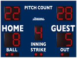 Baseball/Softball LED Scoreboard with Pitch Count - Model 3312PC - Navy | Murray Sporting Goods