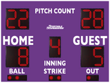 Baseball/Softball LED Scoreboard with Pitch Count - Model 3312PC - Purple | Murray Sporting Goods