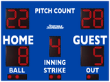 Baseball/Softball LED Scoreboard with Pitch Count - Model 3312PC - Blue | Murray Sporting Goods
