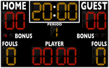 Basketball LED Scoreboard - Model 2246 | Black | Murray Sporting Goods