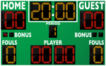 Basketball LED Scoreboard - Model 2246 | Green | Murray Sporting Goods