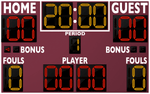 Basketball LED Scoreboard - Model 2246 | Maroon | Murray Sporting Goods