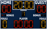 Basketball LED Scoreboard - Model 2246 | Navy | Murray Sporting Goods