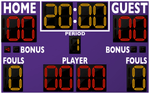 Basketball LED Scoreboard - Model 2246 | Purple | Murray Sporting Goods