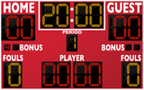 Basketball LED Scoreboard - Model 2246 | Red | Murray Sporting Goods