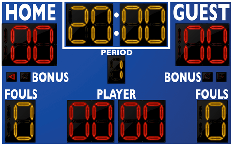 Basketball LED Scoreboard - Model 2246 | Royal | Murray Sporting Goods