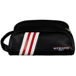 Stripe Golf Leather Shoe Bag - Side View