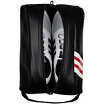 Stripe Golf Leather Shoe Bag - Top View Unzipped