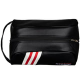 Stripe Golf Leather Shoe Bag - Top View