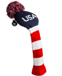 Stripe Golf USA Knitted Golf Club Head Cover for Driver/Fairway Woods - Front