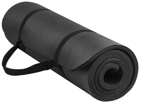 All-Purpose 10mm Premium Exercise Yoga Mat - Black