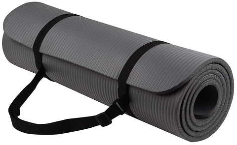 All-Purpose 10mm Premium Exercise Yoga Mat - Gray