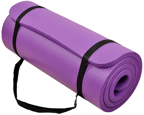 All-Purpose 15mm Premium Exercise Yoga Mat - Purple