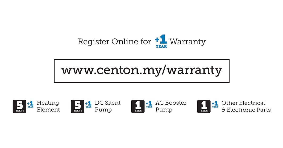 CENTON Instant Water Heater | Warranty Period
