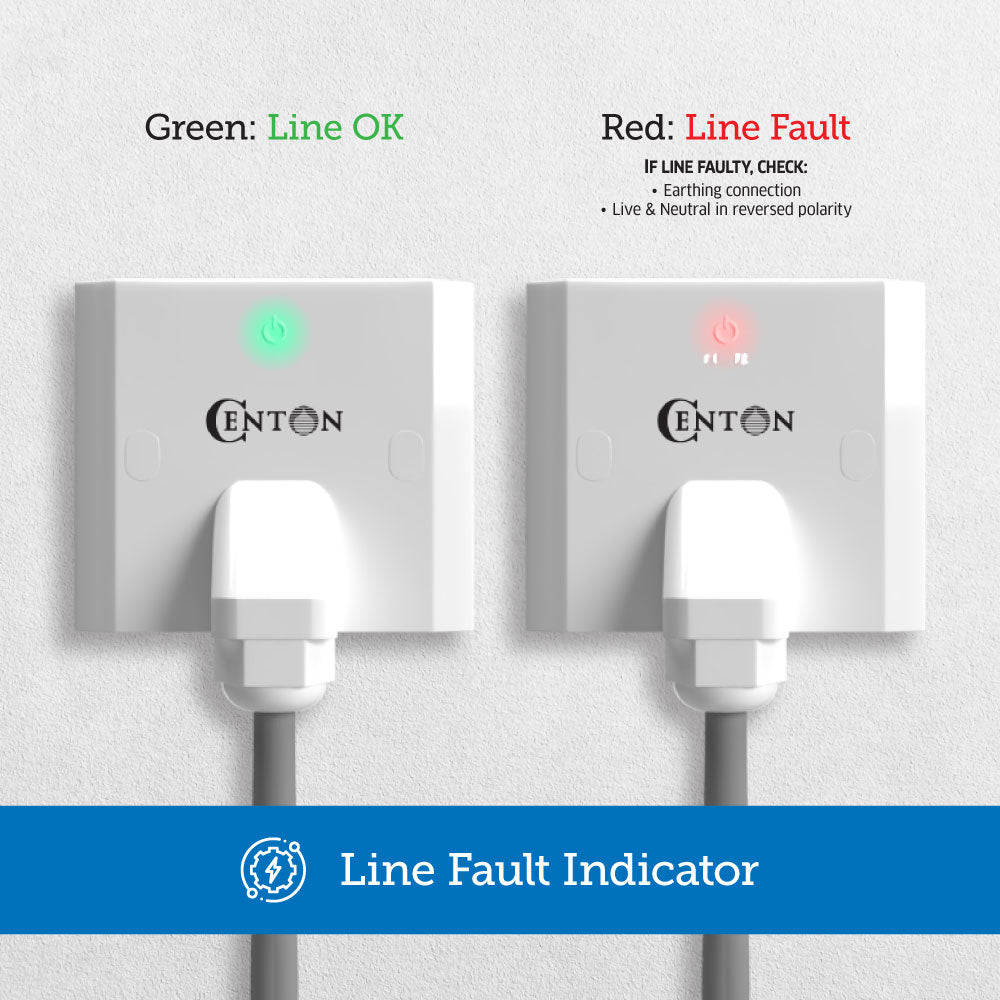 CENTON Water Heater Connector | Line Fault Indicator Function
