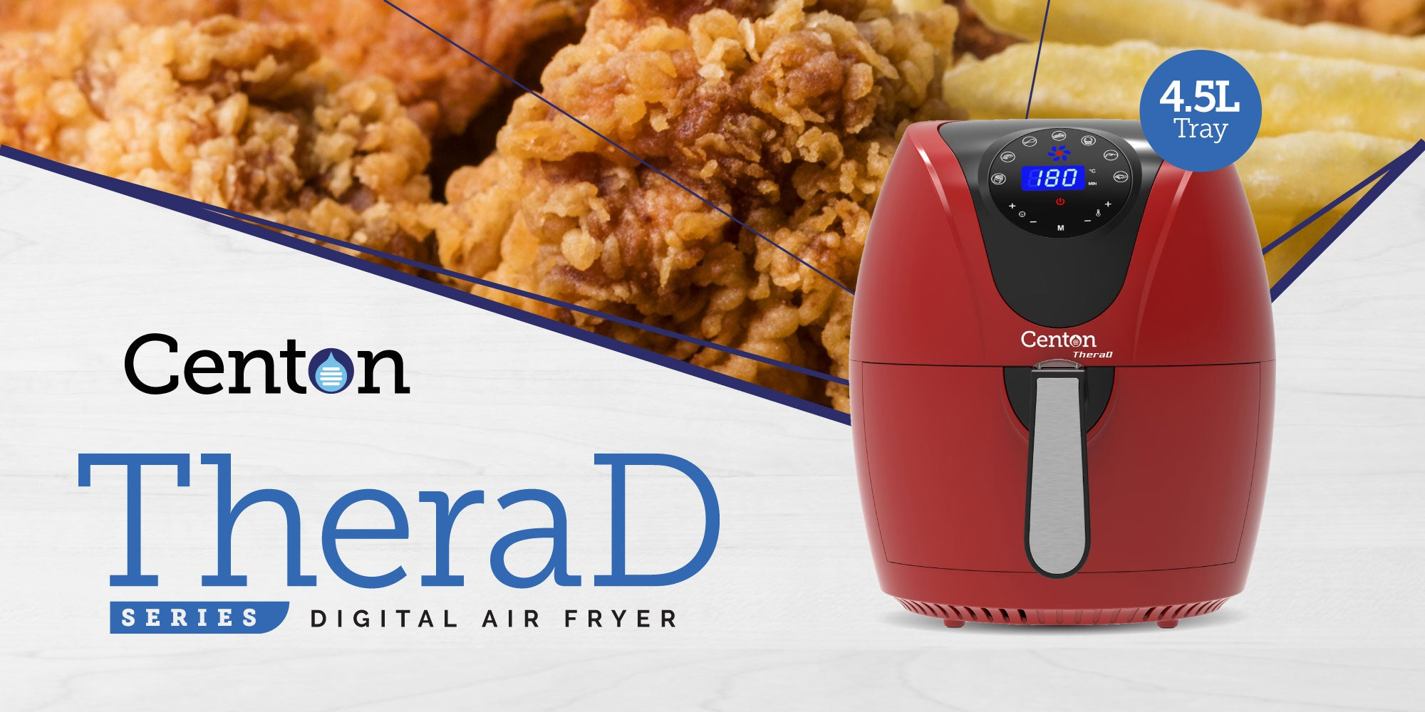 Centon TheraD Digital Air Fryer with Smart Digital Touchscreen Control
