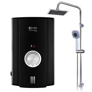 CENTON Serene Instant Shower Water Heater + Rainshower Set | Matte Black (Upgraded)