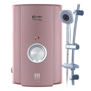 CENTON Serene Instant Shower Water Heater + Handset | Rose Gold (Upgraded)