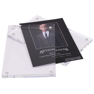 KOHI Frameless Acrylic Glass Photo Frame - 4R Horizontal