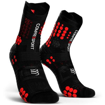 Calcetines COMPRESSPORT Pro Racing Socks TRAIL V3 Negro/Rojo - Aqua Zone