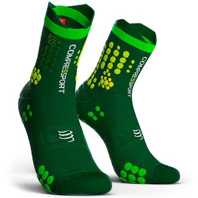 Calcetines COMPRESSPORT Pro Racing Socks TRAIL V3 Verde/Amarillo - Aqua Zone