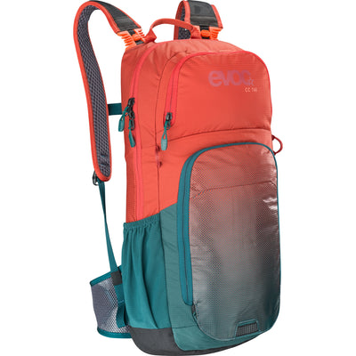 Mochila Evoc Cc 16l+2l Bladder Red-Petrol