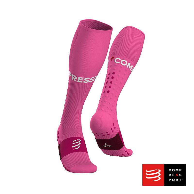 Nuevo Full Socks Run Rosado Compressport - Aqua Zone