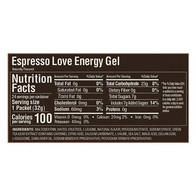 Gel GU energy Espresso Love - Aqua Zone