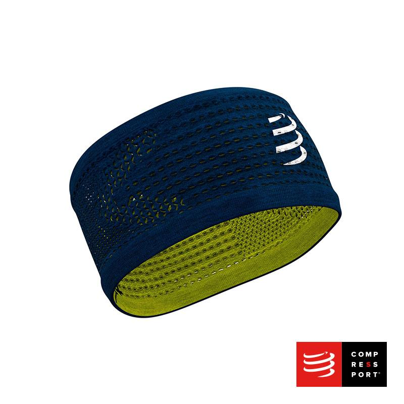 Nuevo Headband On/Off Compressport Azul/Lima - Aqua Zone
