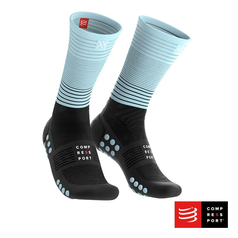 Calcetín Mid Compression Negro/Calipso - Aqua Zone