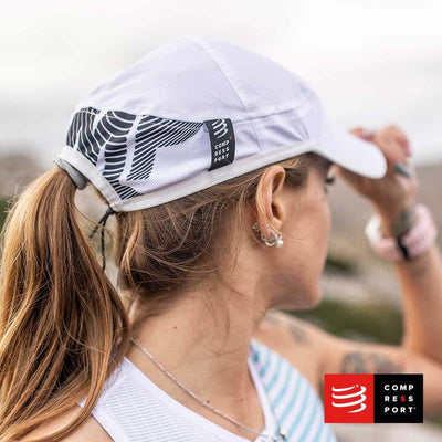 Nuevo Pro Racing Cap Blanco Compressport - Aqua Zone