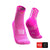 Calcetines COMPRESSPORT Pro Racing Socks Run High V3 Pink/Melange - Aqua Zone