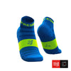 Calcetines COMPRESSPORT Pro Racing Socks Run Low Ultralight V3 Fluo/Blue - Aqua Zone