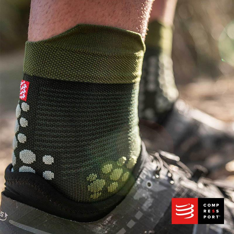 Calcetines COMPRESSPORT Pro Racing Socks Trail V3 Stealth Green - Aqua Zone