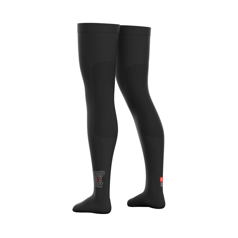 Total Full Leg Negro Compressport - Aqua Zone