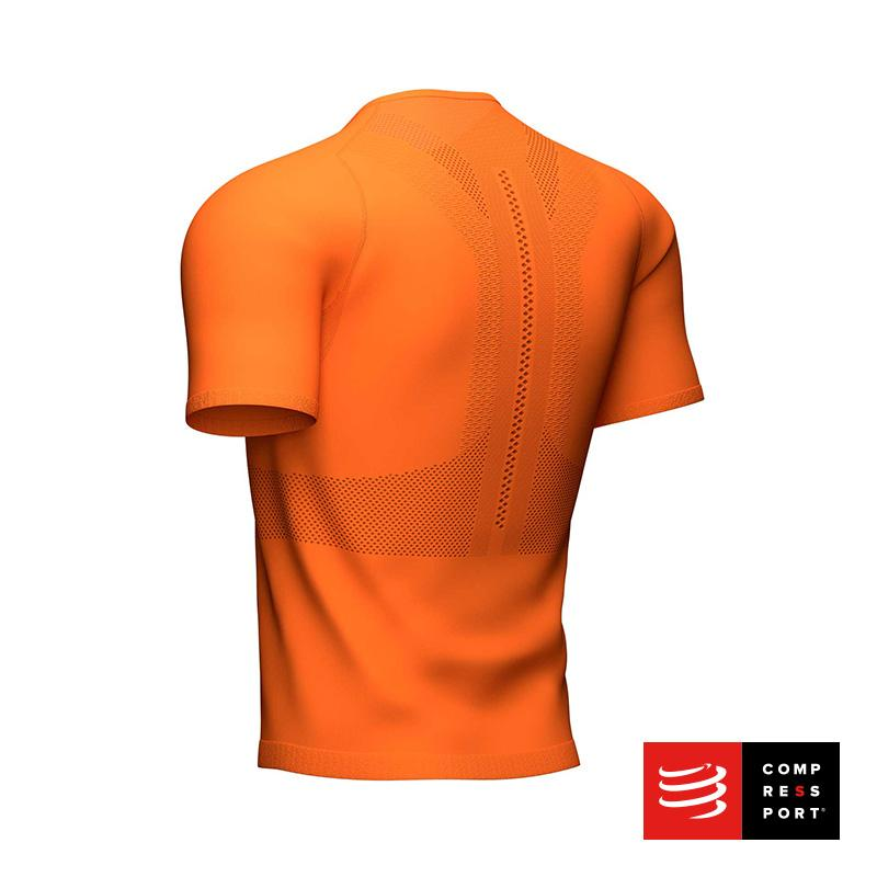 Nuevo Trail Half-Zip Fitted SS Top Cúrcuma Compressport - Aqua Zone