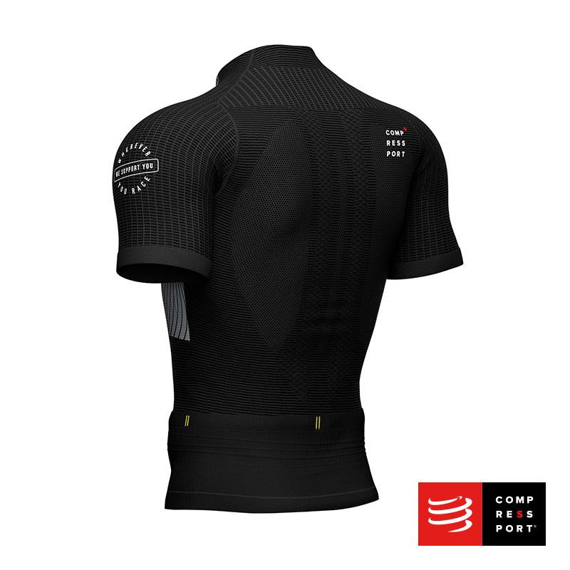 Nuevo Trail Postural SS Top Negro Compressport - Aqua Zone