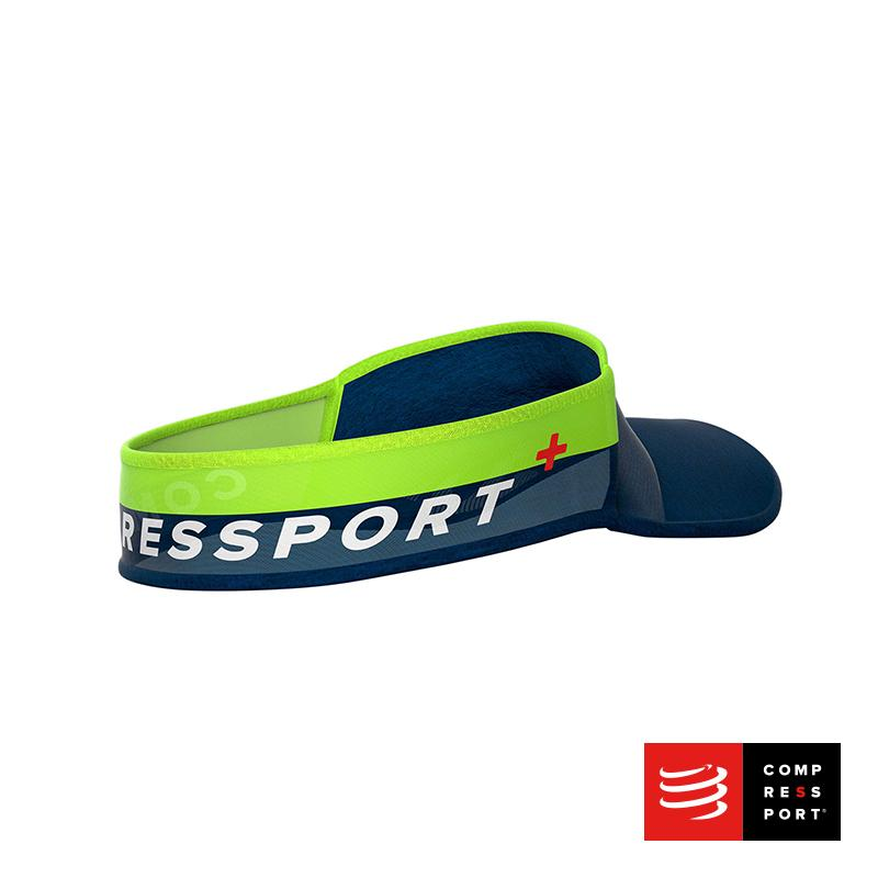 Nueva Visera Compressport Ultralight Azul/Lima - Aqua Zone