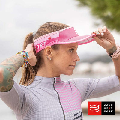 Nueva Visera Compressport Ultralight Rosada - Aqua Zone