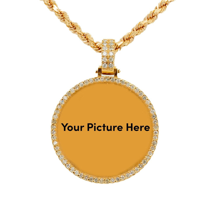 10KT Rose Gold 1.56ctw Round Cut Prong Set Diamond Circle Memory Pendant - Giorgio Conti Jewelers