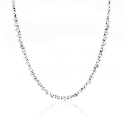 10KT White Gold 3.55CTW Brilliant Round Diamond Necklace - Giorgio Conti Jewelers